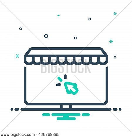 Mix Icon For Online-shopping Online Shopping Digital Ecommerce Browsing Spending Purchasing Supermar