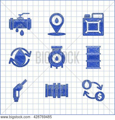 Set Oil And Gas Industrial Factory Building, Exchange, Water Transfer, Convert, Barrel Oil, Gasoline