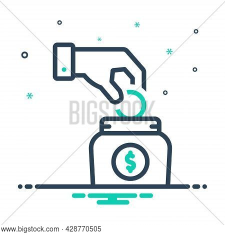 Mix Icon For Investment Venture Contribution Transaction Business Management Commercial Save Coin