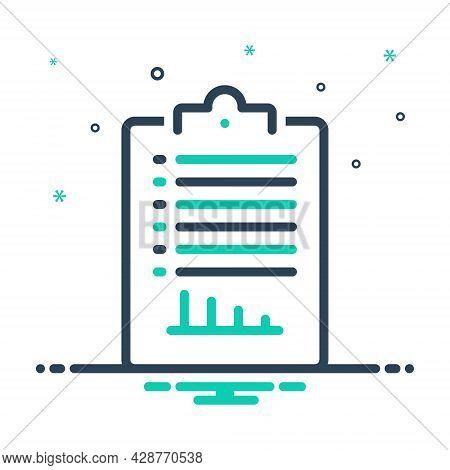 Mix Icon For Report Legwork Protocol  Information Description Communique Detail Proclamation