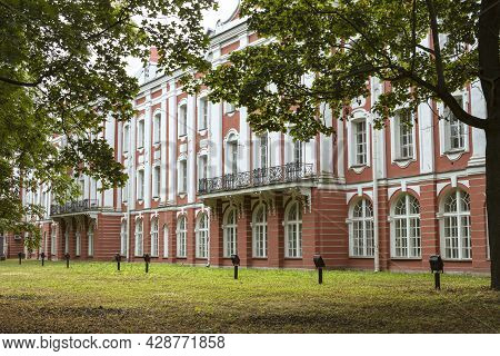 St. Petersburg , Russia -july 22, 2021: Building Of The Twelve Colleges. St. Petersburg State Univer
