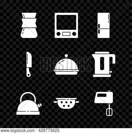 Set Coffee Turk, Electronic Scales, Refrigerator, Kettle With Handle, Kitchen Colander, Electric Mix