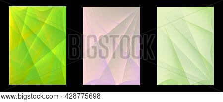 Set Of Vector Abstract Geometric Templates For Text.