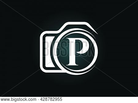 Initial P Monogram Letter Alphabet With A Camera Icon. Photography Logo Vector Illustration. Modern