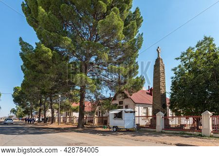 Aliwal North, South Africa - April 23, 2021: A Street Scene, With The Ikhala Fet College And A First
