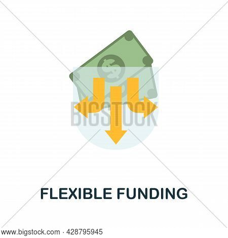 Flexible Funding Flat Icon. Simple Sign From Crowdfunding Collection. Creative Flexible Funding Icon