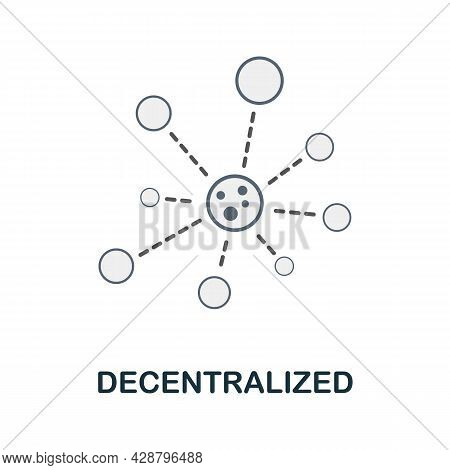 Decentralized Flat Icon. Colored Sign From Cryptocurrency Collection. Creative Decentralized Icon Il