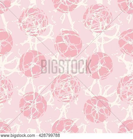 Marble Effect Circles Vector Seamless Pattern Background. Geometric Marbling Stencil Style Circle Ro