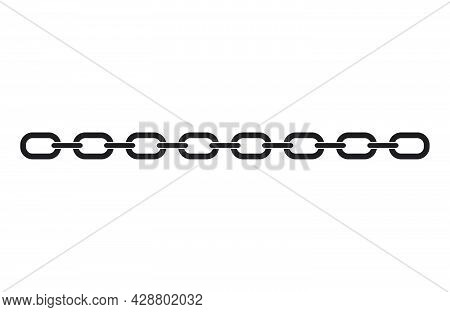 Black Chain Link Icon Isolated On White Background. Link Single. Hyperlink Chain Symbol. Vector