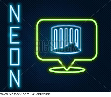 Glowing Neon Line Ancient Column Icon Isolated On Black Background. Colorful Outline Concept. Vector