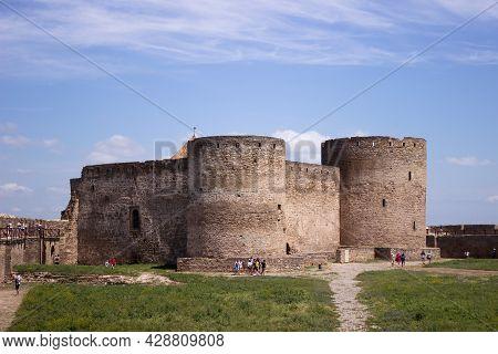 Belgorod Dniester, Ukraine - June 27, 2021. Akkerman (or Bilhorod-dnistrovskyi) Castle. Fortress In