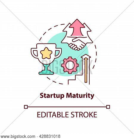 Startup Maturity Concept Icon. Stage Of Company Development. Business Growth. Startup Launch Abstrac