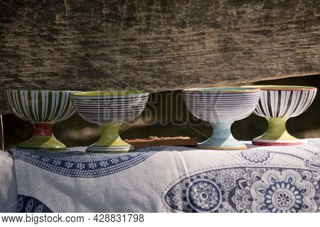 Ceramic Cups,  Sacred Altar And Alchemical Symbol