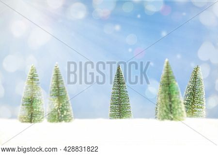 Christmas Background With Christmas Trees. Christmas Card. Christmas Background. Festive Christmas C