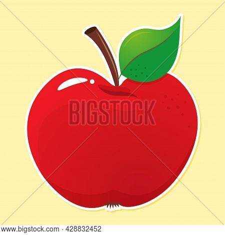 Red Apple - Black Typography Design. Good For Clothes, Gift Sets, Photos Or Motivation Posters. Red