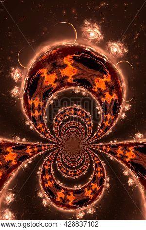 Artistic 3D  Illustration Of A Cosmic Scene
