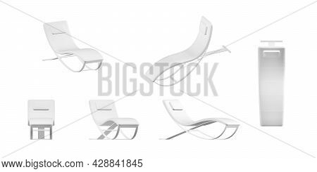 Chaise Longue Mockup Isolated On White Background - 3d Render
