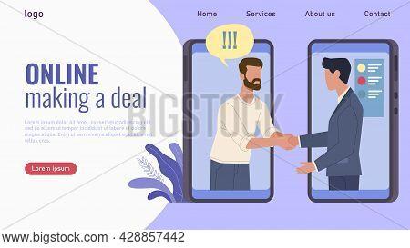 Online Transaction Landing Page. Website Interface Template. Web Ui Design. Mobile Application For M