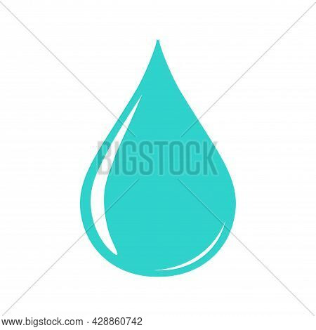 Water Drop Shape. Water Or Oil Drop. Flat Style Isolated On White Background - Stock Vector.
