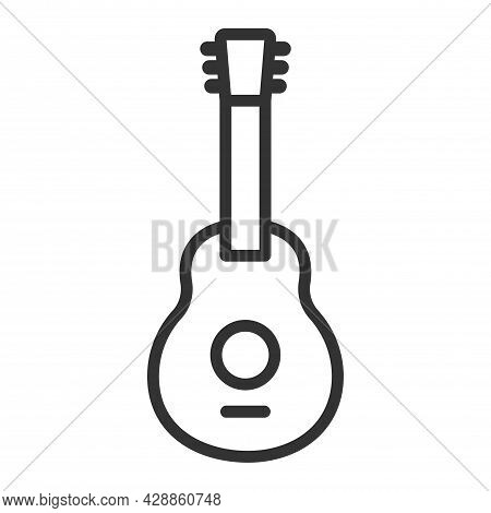 Guitar Icon Or Logo Isolated Sign Symbol Vector Illustration - High Quality Black Style Vector Icons