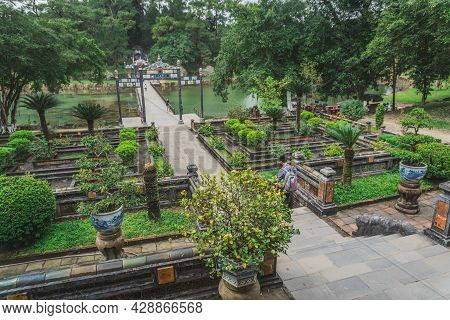Vietnam Tomb Of The Emperor In Hue The Unesco Heritage. Hue, Vietnam - March 9, 2020.