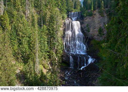 Alexander Falls Whistler British Columbia. Spectacular Alexander Falls In Whistler, British Columbia