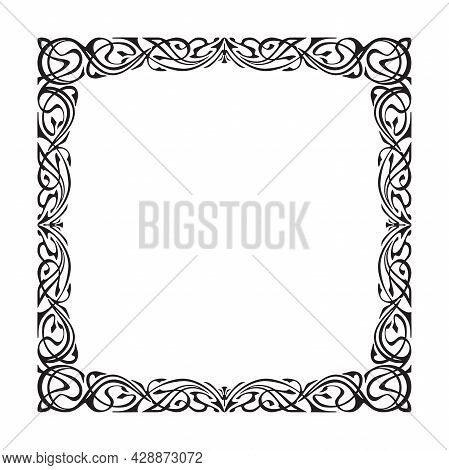 Art Frame Vignette In The Art Nouveau Style,vector
