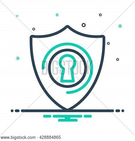 Mix Icon For Protection Conservation Insurance Preservation Safeguard Safety Security Shelter Shield