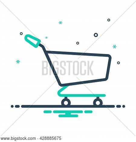 Mix Icon For Trolley Shopping Cart Basket Ecommerce Purchase Delivery Purchase