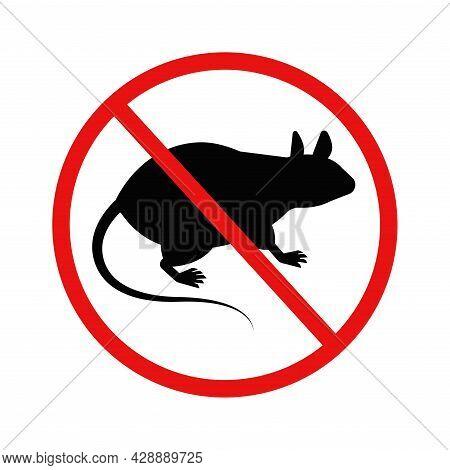 Anti Rat Mouse Warning Silhouette Sign Logo