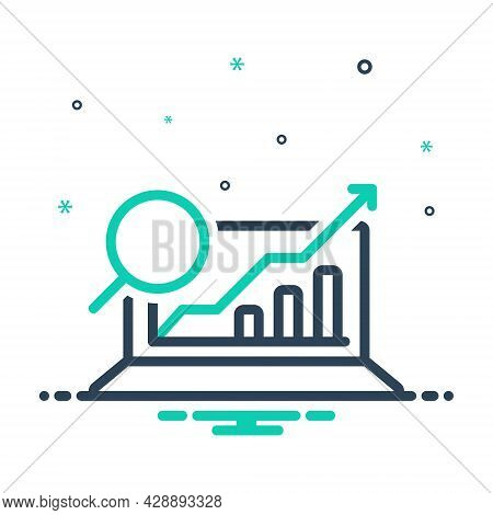 Mix Icon For Analytics Data Partition Logic Trend Statistics Progress Report Infographic Diagram