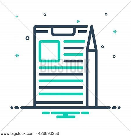 Mix Icon For Project-briefing Briefing Discussion Information Conference Preamble Compose Task Docum