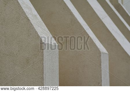 Abstract Architectural Geometric Composition. Repetitive Architectural Forms Of The Exterior Of A Mo