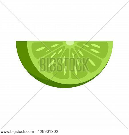 Lime Piece Icon. Flat Illustration Of Lime Piece Vector Icon Isolated On White Background