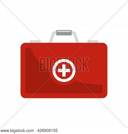 Diabetes First Aid Kit Icon. Flat Illustration Of Diabetes First Aid Kit Vector Icon Isolated On Whi