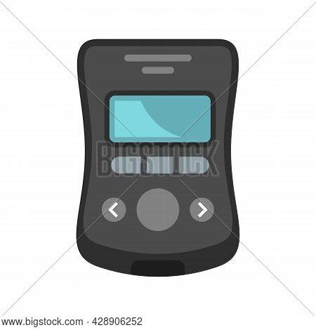 Diabetes Glucometer Icon. Flat Illustration Of Diabetes Glucometer Vector Icon Isolated On White Bac