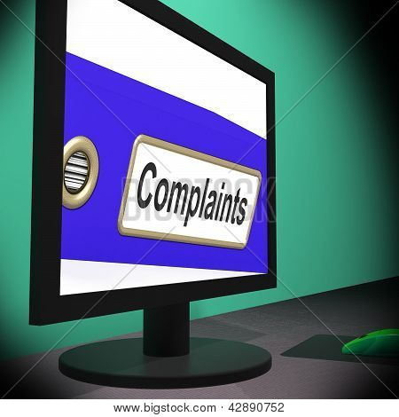 Complaints On Monitor Showing Angry Customers