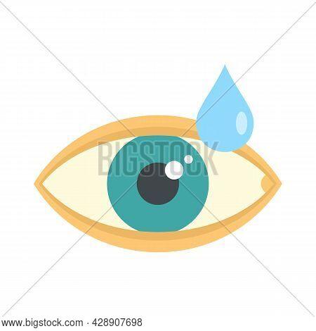 Medical Eye Drop Icon. Flat Illustration Of Medical Eye Drop Vector Icon Isolated On White Backgroun