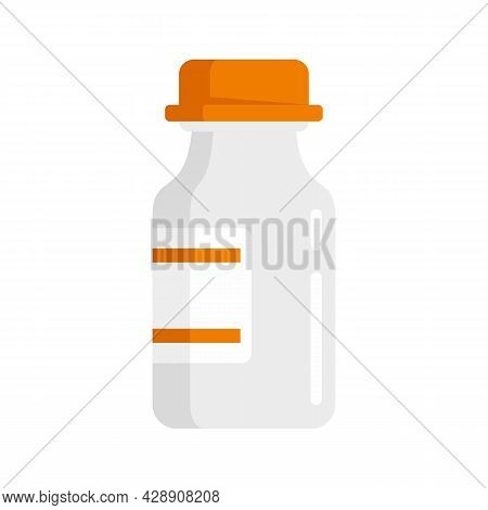 Medical Insulin Pot Icon. Flat Illustration Of Medical Insulin Pot Vector Icon Isolated On White Bac