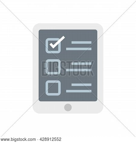 Online Questionnaire Icon. Flat Illustration Of Online Questionnaire Vector Icon Isolated On White B