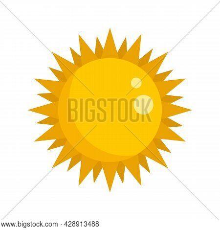 Summer Sun Icon. Flat Illustration Of Summer Sun Vector Icon Isolated On White Background