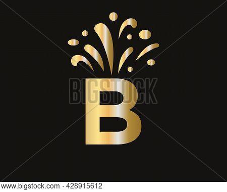 B Letter Logo With Luxury Concept. Elegant B Logo Luxury And Celebration Concept.