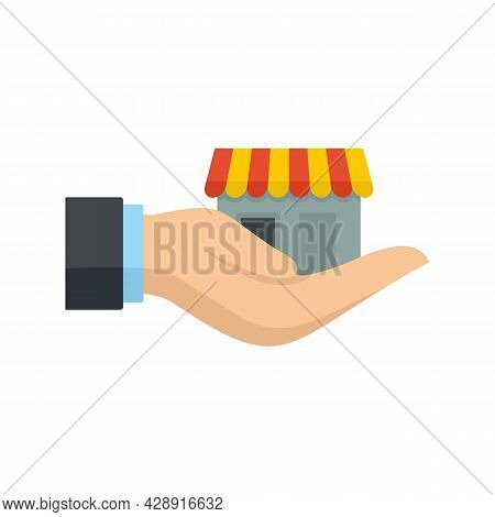 Take Care Franchise Business Icon. Flat Illustration Of Take Care Franchise Business Vector Icon Iso