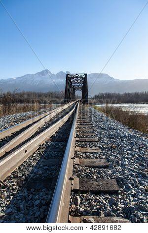 Railroad Switch And Bridge