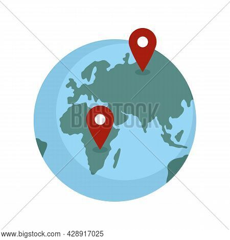 Global Franchise Business Icon. Flat Illustration Of Global Franchise Business Vector Icon Isolated