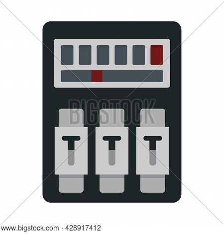 Switch Electrical Device Icon. Flat Illustration Of Switch Electrical Device Vector Icon Isolated On
