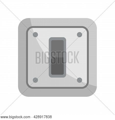 Electric Switch Icon. Flat Illustration Of Electric Switch Vector Icon Isolated On White Background