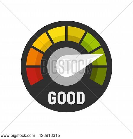 Credit Score Icon. Flat Illustration Of Credit Score Vector Icon Isolated On White Background