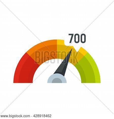 Credit Score Indicator Icon. Flat Illustration Of Credit Score Indicator Vector Icon Isolated On Whi
