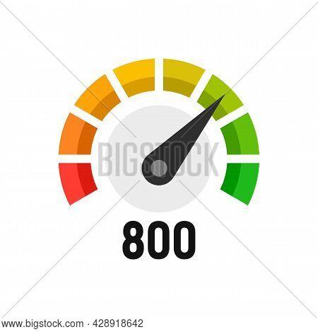 Progress Credit Score Icon. Flat Illustration Of Progress Credit Score Vector Icon Isolated On White